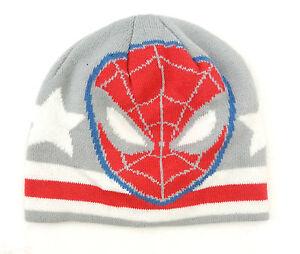 Marvel Ultimate Spider-Man Men's Adult White/Grey/Red Beanie Hat OSFM NEW