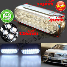 2x Car Truck 16 LED Light 12V Day Fog Driving Bulb Daytime Running Van DRL white