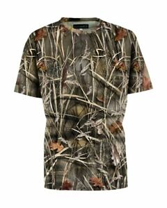Percussion Men's Breathable Quick Dry Ghost Camo Wetlands T-Shirt Round Neck