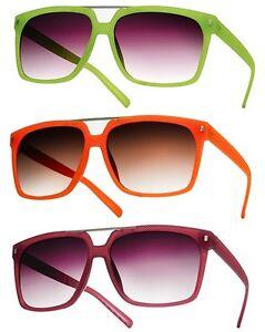 NEW Vintage Retro Fashion Style Sunglasses Woman's Dark Lens Pink Orange Green