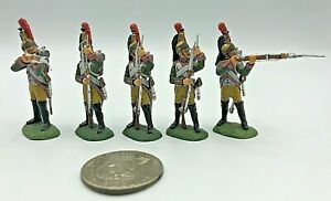 (5) Pc Frontline Figures FF 2000 Metal Lead 54mm Napoleonic Toy Soldiers EXCEL