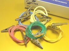 Set De 5 Dental Servilleta / Babero titulares, Metal Clips Con Tubo Flexible * Nuevo *