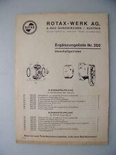 Rotax-Motoren Ergänzungsliste Nr. 202 Umschaltgetriebe um 1960? Motoren