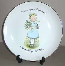 """1974 Holly Hobbie 10.5"""" Mother's Day Plate Ce Kind & Good is Motherhood Free Sh"""
