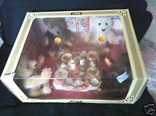 Vintage 1982 Steiff Teddy Bear Tea Party Set LE new in box