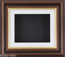 effet Acajou Doré Boîte profonde Cadre d'affichage 3D 2D Objets d blanc noir