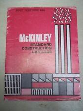 Vtg Mckinley Iron Works Catalog~Standard Construction Castings