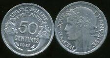 50  centimes  MORLON   alu  1941  SUP  ( bis )