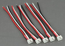 (5) E-Flite Blade 130X UMX Male (ESC / Charger) Connectors with 10CM 26awg Wire