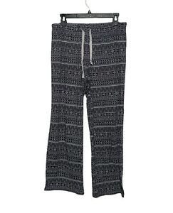 Gilligan & O'Malley Pajama Pants Patterned Comfy Pant Gray Women's Size Large