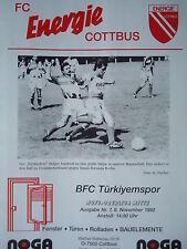 Programm 1992/93 FC Energie Cottbus - BFC Türkiyemspor