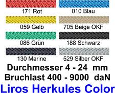 LIROS Herkules Color Tauwerk Schot Fall Strecker NEU 8 10 12 14 16 mm div Farben