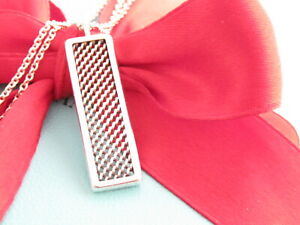 """Tiffany & Co Silver Somerset Mesh Bar Pendant Necklace 18.25"""""""