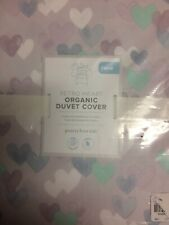 POTTERY BARN KIDS Retro Heart Cotton TWIN Duvet Cover - NEW - Lavender