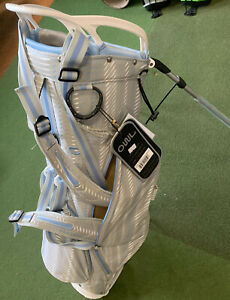 New **SALE** OUUL PYTHON SUPER LIGHT STAND BAG (Grey/white/pale Blue)
