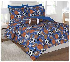 Fancy Linen 8pc Full Comforter Set Sport Football Basketball Baseball Soccer New