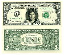STAR WARS / HAN SOLO - VRAI BILLET 1 DOLLAR US ! Collection Harrison Ford yann 2