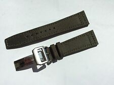 20mm Nylon / Fabric Leather Watch Band Strap for iwc  & 18mm deployment clasp
