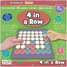 Fiesta Crafts STICKABOUTS GAME - 4 IN A ROW Reusable Sticker Toy BN