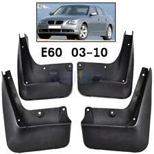 Set Molded OEM Fitment Mudflaps For BMW 5 Series E60 04-10 Mud Flap Splash Guard