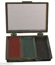 face paint camo 3 color black olive and brown compact case rothco 8200