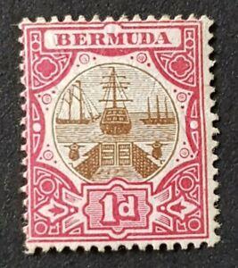Bermuda KEVII 1d SG32 MH No Gum