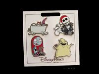 Disney NBC Nightmare Before Christmas 4 Pin Set Jack Sally Lock Shock Barrel