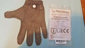 Manulatex GLOVE 2S Professional RING Steel Chain Proof Butchery Meat Fish Proces