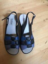 Hotter blue comfort  sandals  size 5