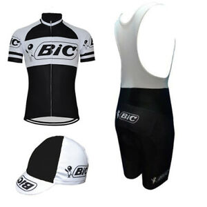BIC Cycling Jersey Retro Road Pro Clothing MTB Short Sleeve Racing DIY