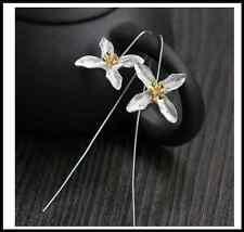 Rose Gold Plated Cross Micro CZ Crystal Diamante Stud Earrings Part/Wedding