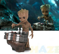 Guardians of the Galaxy Baby Groot Movie Scene Resin Action Figure Model Gift