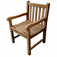KYOTO SOLID CAPTAINS LARGE SOLID CHUNKY LARGE TEAK WOOD ARM CHAIR SEAT