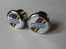 *NOS Vintage Original 1980s Benotto handlebar bar end plugs - (Silver)*