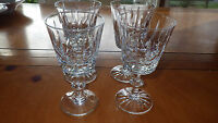 Lead Crystal Wine Glasses Mackensie Suite by Brierly Hill Glass 4 4oz elegant
