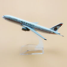 16cm Metal Air Etihad Airlines Boeing 777 B777 Airplane Plane Model Aircraft Toy