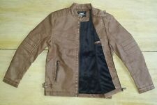 Schoarrow Knhor Faux Leather Jacket Brown Asian Size Large