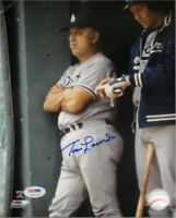 Tommy Lasorda Hand Signed Autographed 8x10 Photo LA Dodgers PSA/DNA Corner Bend