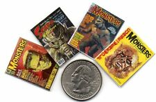 4 Miniature   'MONSTER'   Magazines  - Dollshouse  1:12 scale