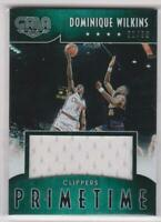 2015-16 Dominique Wilkins #/60 Panini Gala Green Primetime Jersey Card
