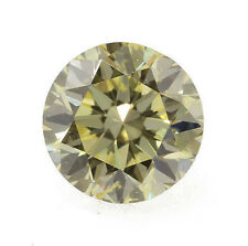 0.23 Carat Fancy Greenish Yellow Diamond Certified Natural Color Loose Round
