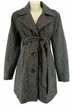 XXL 1X Womens WOOL TWEED MATERNITY COAT W/TIE Jacket Winter Pea in Pod Plus Size