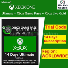 XBOX LIVE 14 Day GOLD + Game Pass (Ultimate) Trial Membership FAST Delivery