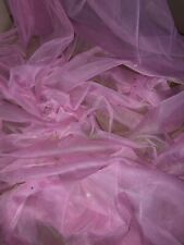 """3 mtr soft baby pink diamante,tutu,decoration,bridal tulle net fabric..45""""'wide"""