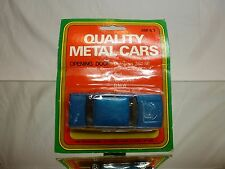 QUALITY METAL CARS AM63 PEUGEOT 604  - BLUE L9.0cm RARE - GOOD IN CARD-BLISTER