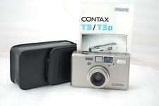 "Contax T3D Titanium silver 35mm SLR Film Camera""Excellent"" *Double Teeth* #3694"