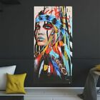 Abstract Indian Woman Canvas Oil Painting Print Picture Home Wall Art Decor hot