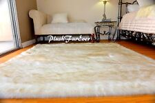 60 X 72 Black Tip Coyote Accent Faux Fur Area Rug Classic Bearskin Plushfurever