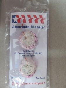 American Mantle Gaslight Mantle Soft inverted No. 2  #254   NEW