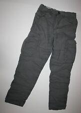 NUOVO H&M LOGG Label Of Graded Goods Grigio foderato Pantaloni Militari taglia 8